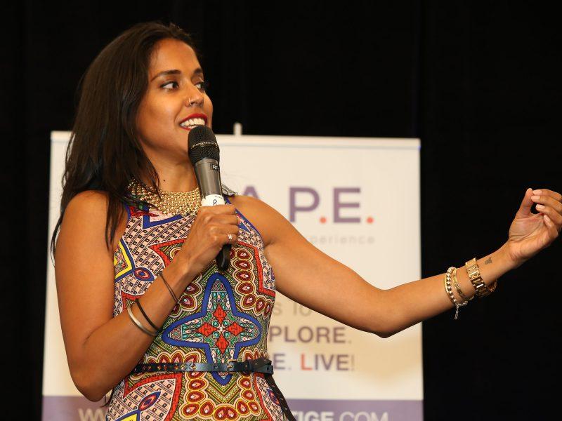 Ritu Bhasin Of Bhasin Consulting During A Speaking Session