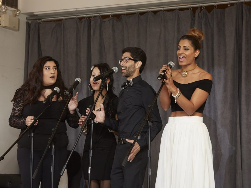 Singer Songwriter Ffarah With Her Acapella Troupe
