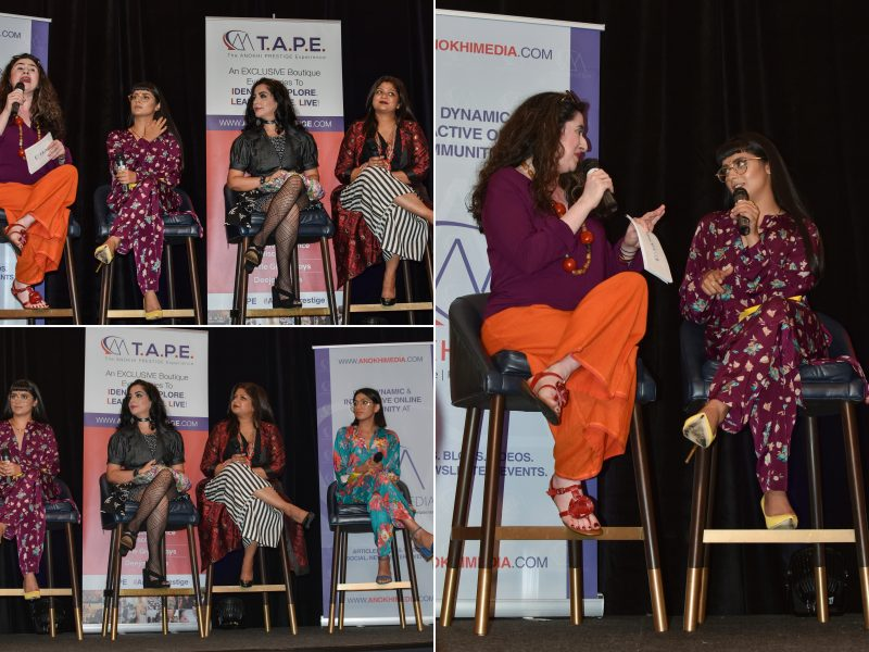 """The Business Of Fashion"" Panel, Hosted By Hina Ansari, With Babbu The Painter, Alia Qureshi, Sarita Jain Of Paridhaan & Hatecopy"
