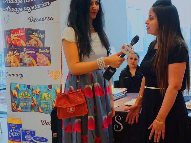 ANOKHI Spotlight TV Host Sana Tahir Interviewing OIC Foods Media Marketing Manager, Divya Batra