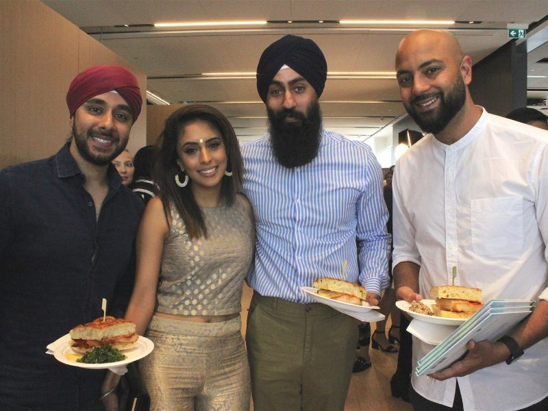 Sandy Lion & Harjas Singh With Guests